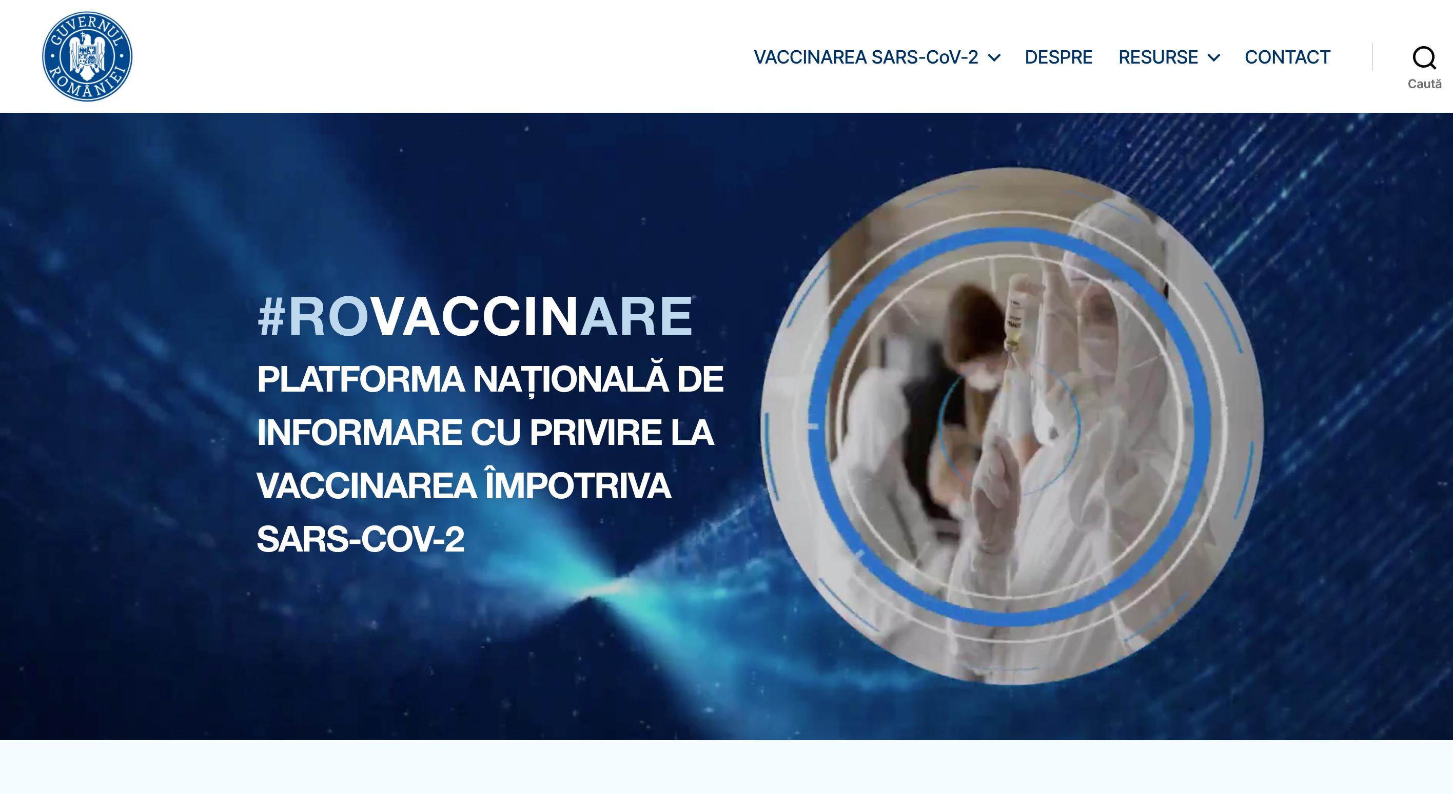 Platforma națională de programare pentru vaccinarea împotriva COVID-19